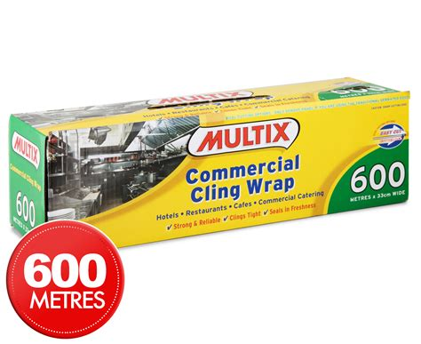 Plastic Wrap Cling Wrap by Multix Commercial Cling Wrap 600m X 33cm Great Daily
