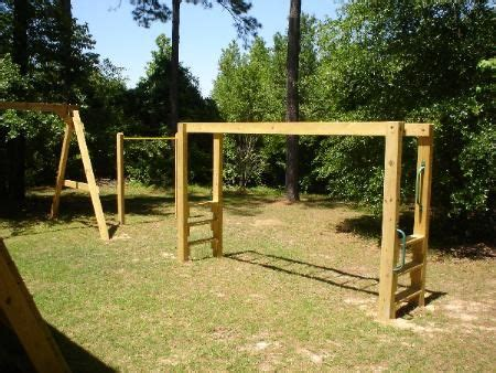 custom built swing sets free swing set plans with monkey bars woodworking