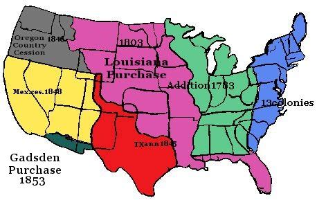 manifest destiny map america in the early 19th century topic manifest destiny