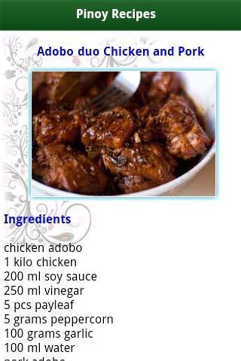 pinoy food recipes android apps on google play