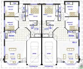 Floor Plans For Duplexes 3 Bedroom by 2 Bedroom Duplex House Plans