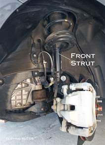 Damaged Struts In Car When Struts And Shock Absorbers Should Be Replaced