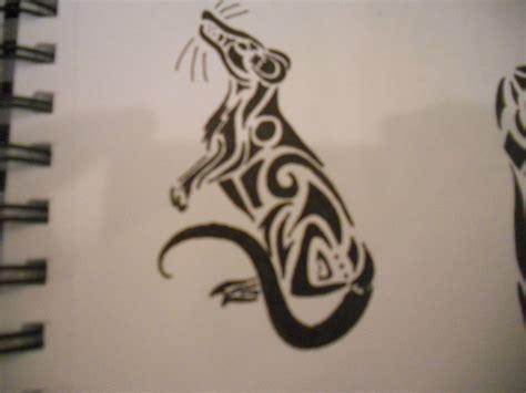 Rat Tattoo Pinterest | tribal rat tattoo by mikaylamettler deviantart com on