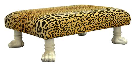 cheetah ottoman cheetah fabric upholstered ottoman coffee table april