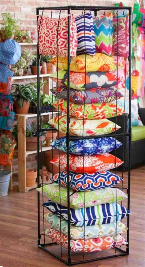 how to store pillows great pillow display evergreen pinterest