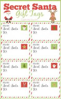 secret santa gift exchange template secret santa gift tags and exchange tips capturing