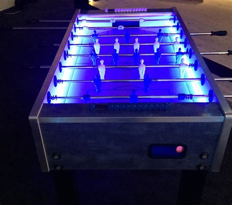 Foose Table by Standard Led Foosball Table 171 Los Angeles Partyworks Inc