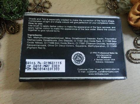 Harga Lt Pro Contour Kit celoteh hati dan pikiran review lt pro shade tint kit