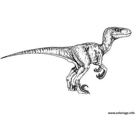coloring pages of velociraptor coloriage jurassic world raptor jecolorie com