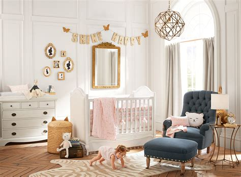 pottery barn teen nurseries childrens bedrooms pink and gold nursery