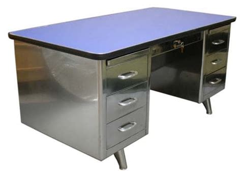 Vintage Metal Office Desk The Tanker Desk An American Modern Classic Apartment Therapy