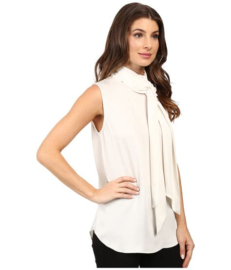 Vince Camuto Satin Bow Neck Blouse by Vince Camuto Sleeveless Bow Neck Blouse Zappos Free