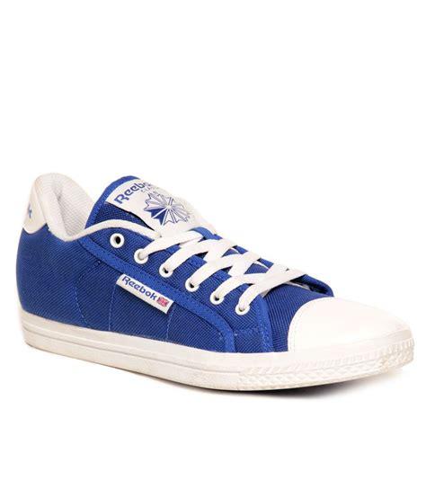 buy reebok on court v lp royal blue white canvas shoes