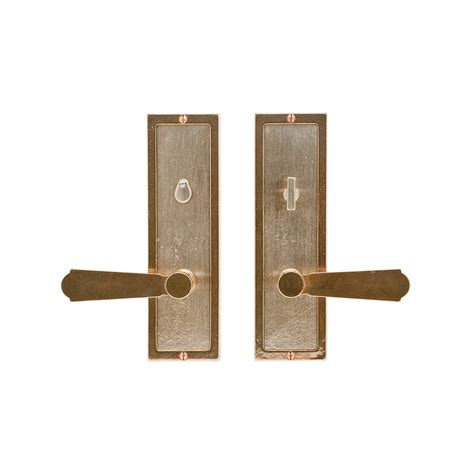 Interior Door Hardware Sets Designer Textures Privacy Set 3 Quot X 10 Quot Privacy Mortise Bolt Latch E117 Rocky