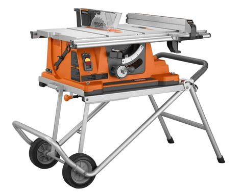 portable table saw bench ridgid r4510 heavy duty table saw review us80