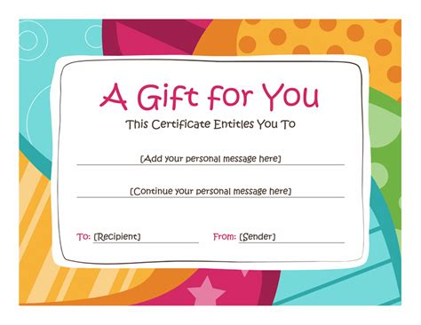 ignitewoo gift create gift card template birthday gift certificate template free printables