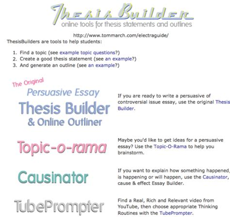 thesis builder thesis generator for essay thesis generator comparative
