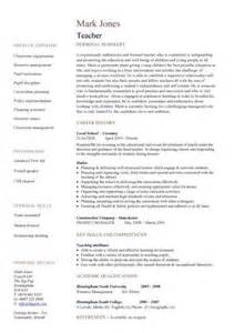 School Resume Description Teaching Cv Template Description Teachers At School Cv Exle Resume All Things Classroom