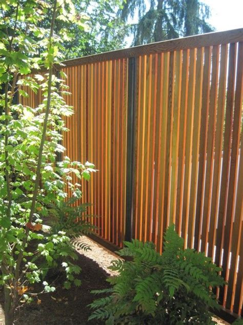 slat fence vertical backyard fences fence landscaping