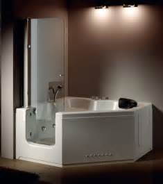 hs b013a walk in tub shower combo corner tub shower combo
