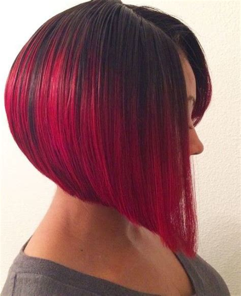 black hairstyles platt red ombre shoulder length hair www pixshark com images