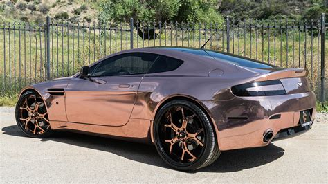 rose gold car dub magazine rose gold aston martin vantage forgiatos
