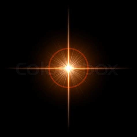 Len Lighting Smooth Light Lines With Lens Effect Vector Stock Vector