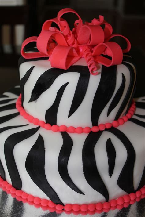 zebra pattern fondant cakes zebra pattern birthday cake cakecentral com
