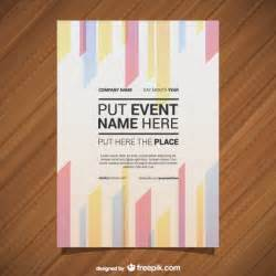 free event poster template geometric lines event poster vector free
