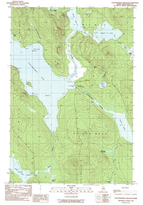 caucomgomoc lake east topographic map me usgs topo