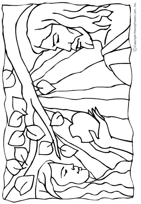 coloring page for adam and eve adam and eve color pages az coloring pages
