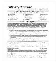 cook resume sle template design