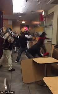 mass brawl breaks out at chicago s rock n roll mcdonald s