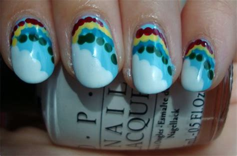 natural nail art tutorial nail art tutorial rainbow cloud nails swatch and learn