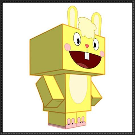 papercraftsquare new paper craft happy tree friends