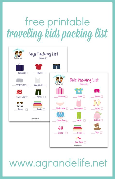 printable toddler packing list free printable traveling kids packing list a grande life