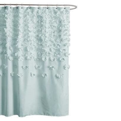 Flower Shower Curtain by Blue Scattered Flower Texture Shower Curtain