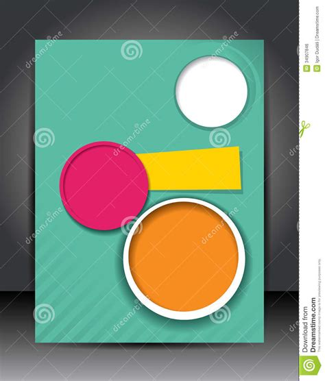 poster design layout download business poster stock illustration illustration of orange