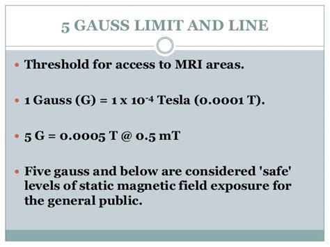 5 Gauss To Tesla Mri Safety The Dos And Donts