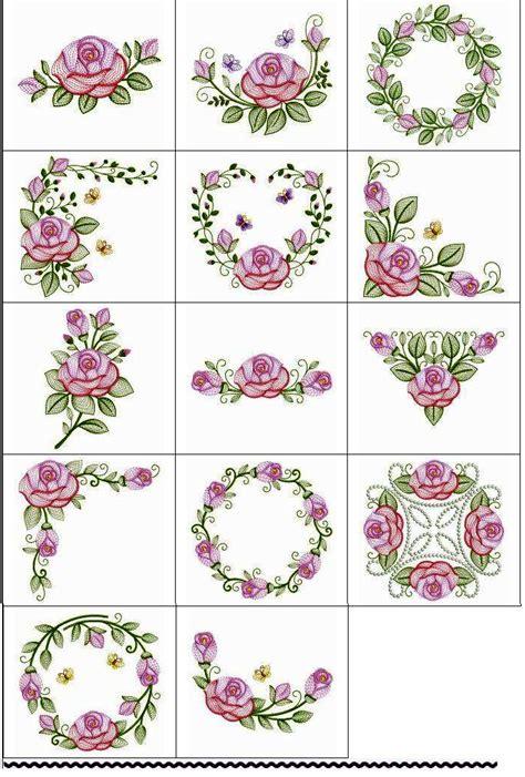 desenho flores matriz desenho bordado rosas flores arranjos delicados