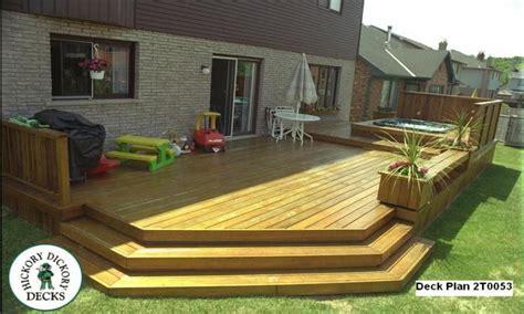 patio design plans low level deck designs ground level deck designs large
