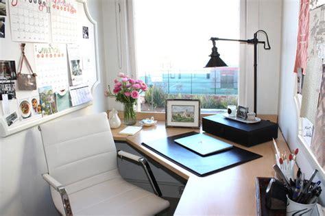 casual home small feminine home office contemporary san francisco