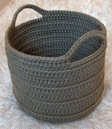 chunky crochet basket free pattern my hobby
