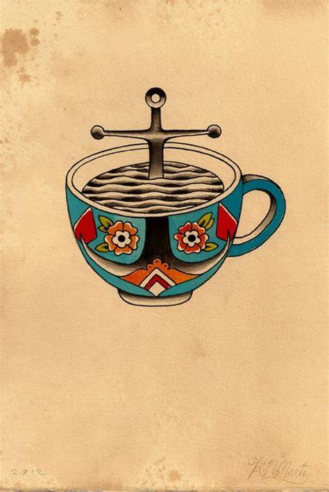 coffee mug tattoo kyler martz ink i coffee anchors and