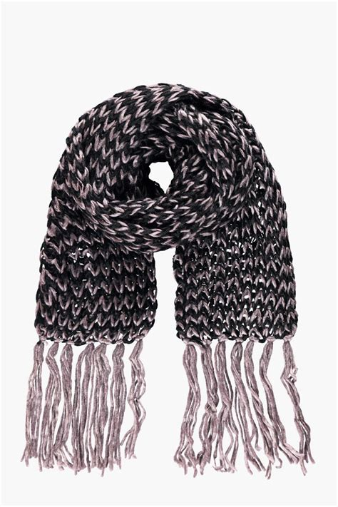 mens knitted scarf boohoo mens knitted scarf in brown size one size ebay