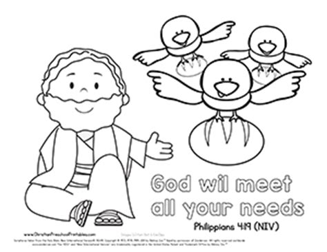 coloring page for elijah and the ravens elijah bible verse printables