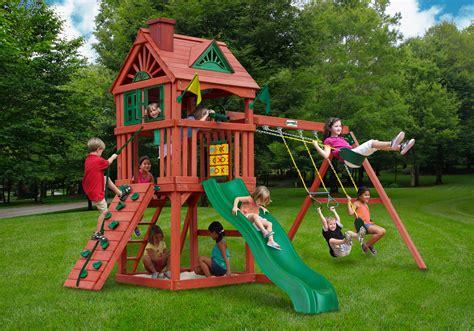 playground swing sets nantucket cedar swing set gorilla playsets total