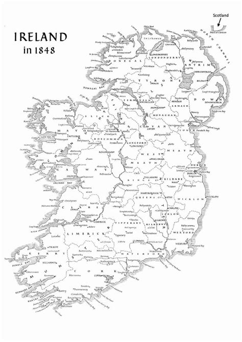 printable map ireland counties towns ireland geography basic facts about the island