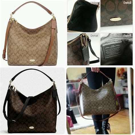 Coach Celeste Hobo Sign Khaki Chalk 2 prettytreasure2u coach celeste convertible signature hobo f34910