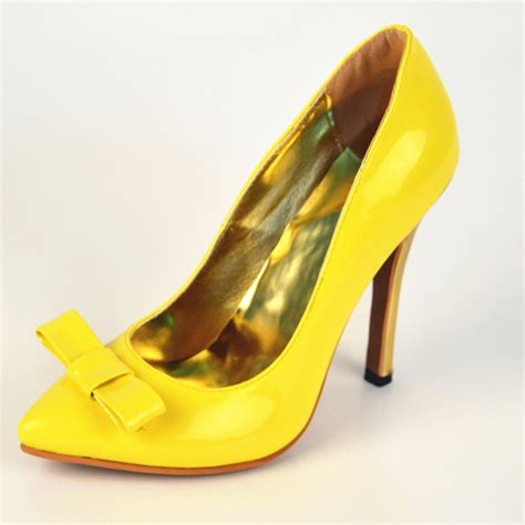 cheap yellow high heels yellow heels with bow fs heel